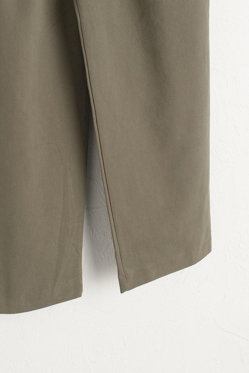Boxy Pintuck Trousers, Khaki