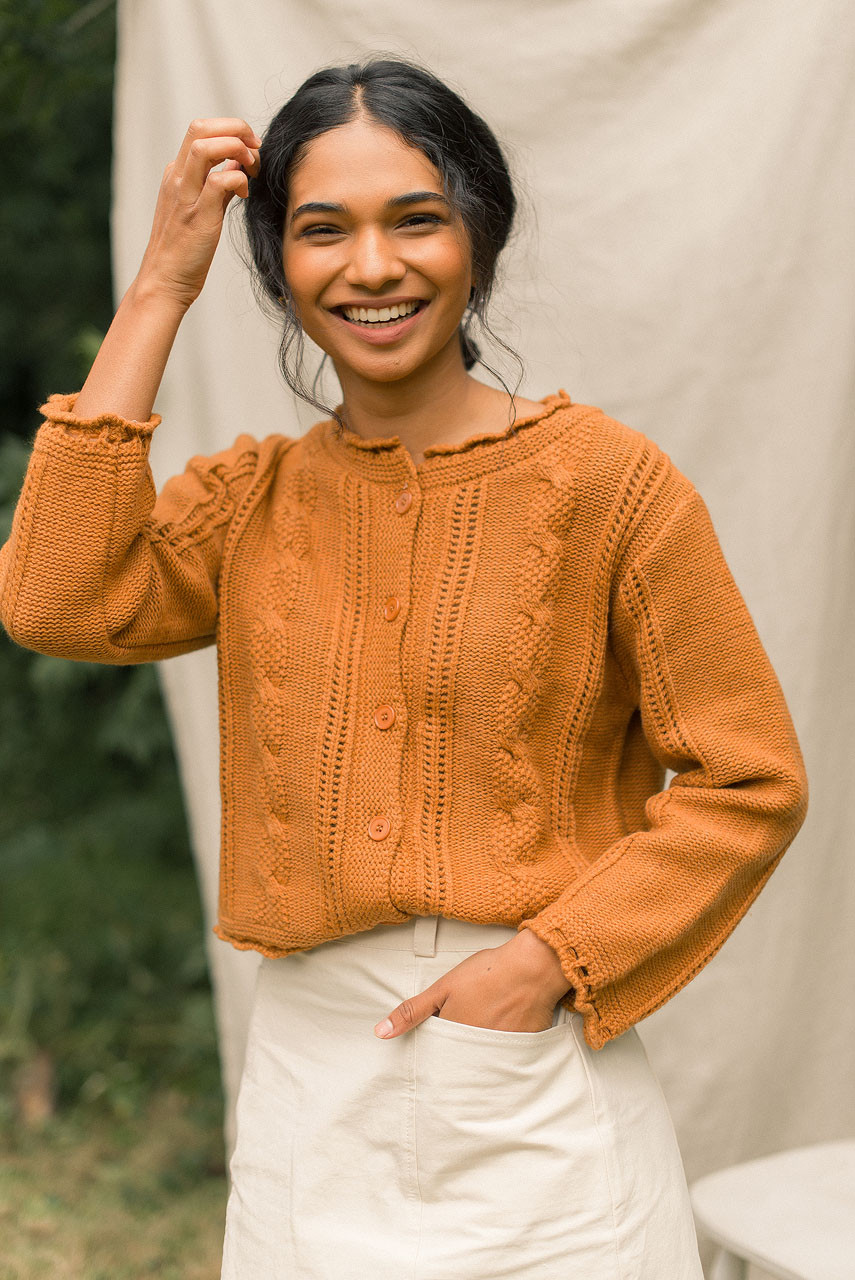 Kiko Cable Cardigan, Camel