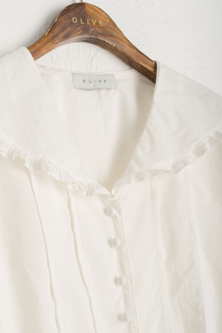 Sailor Frill Detail Blouse, Ivory
