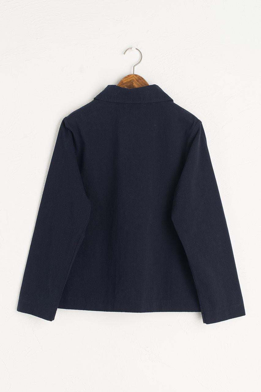 Peter Pan Collar Jacket, Navy