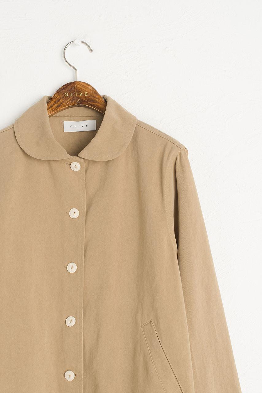 Peter Pan Collar Jacket, Beige