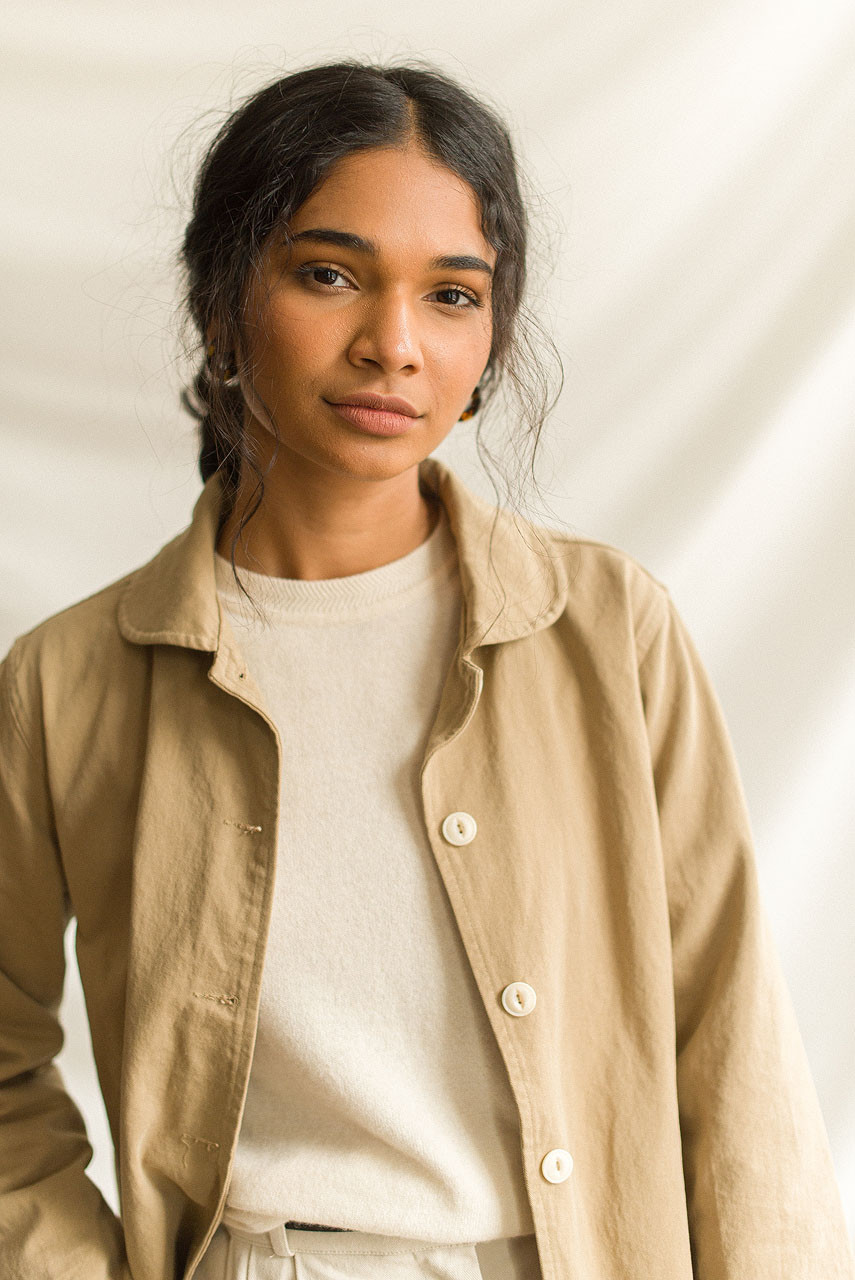 Peter Pan Collar Jacket, Beige