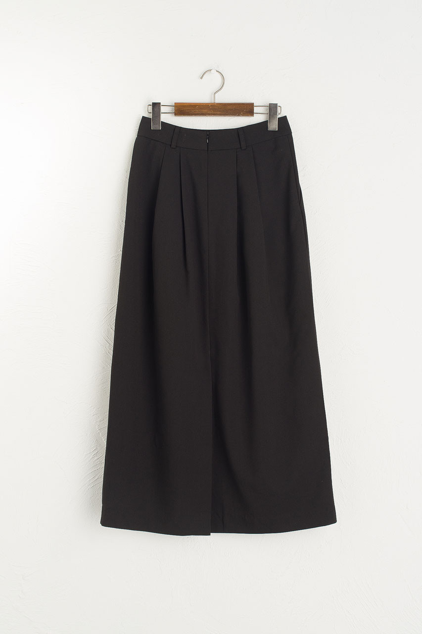 Verna Pintuck Skirt, Black