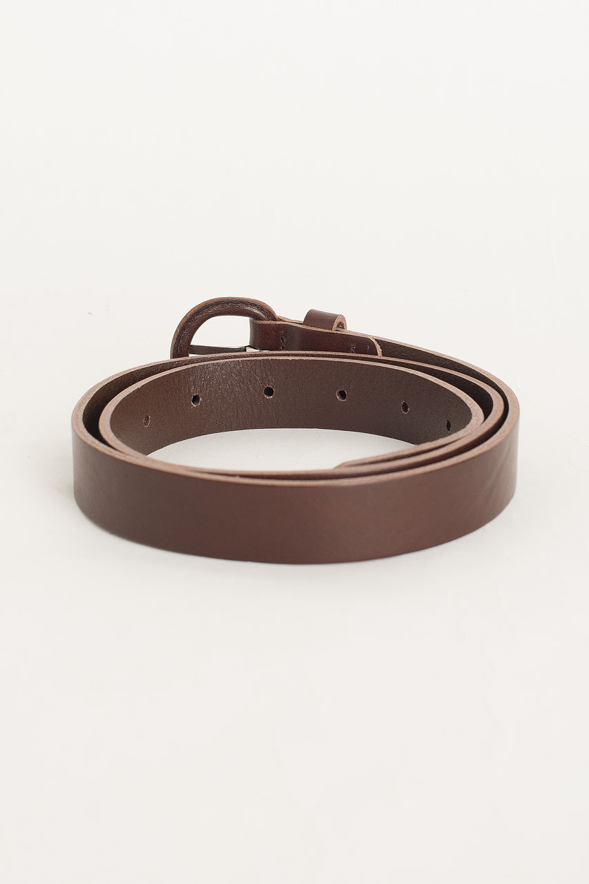 Oval Ring Belt, Brown