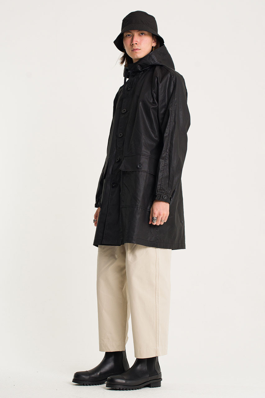 Menswear | Coated Parka, Black