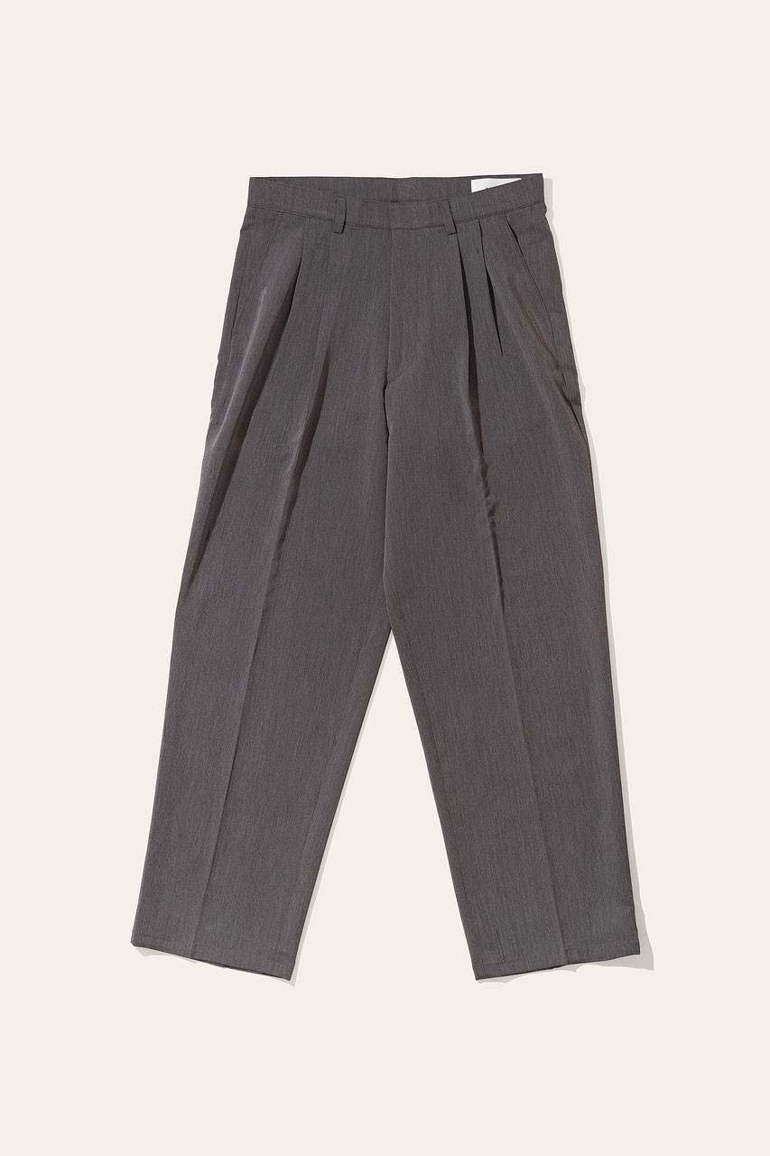 Menswear | Pintuck Wide Slacks, Grey