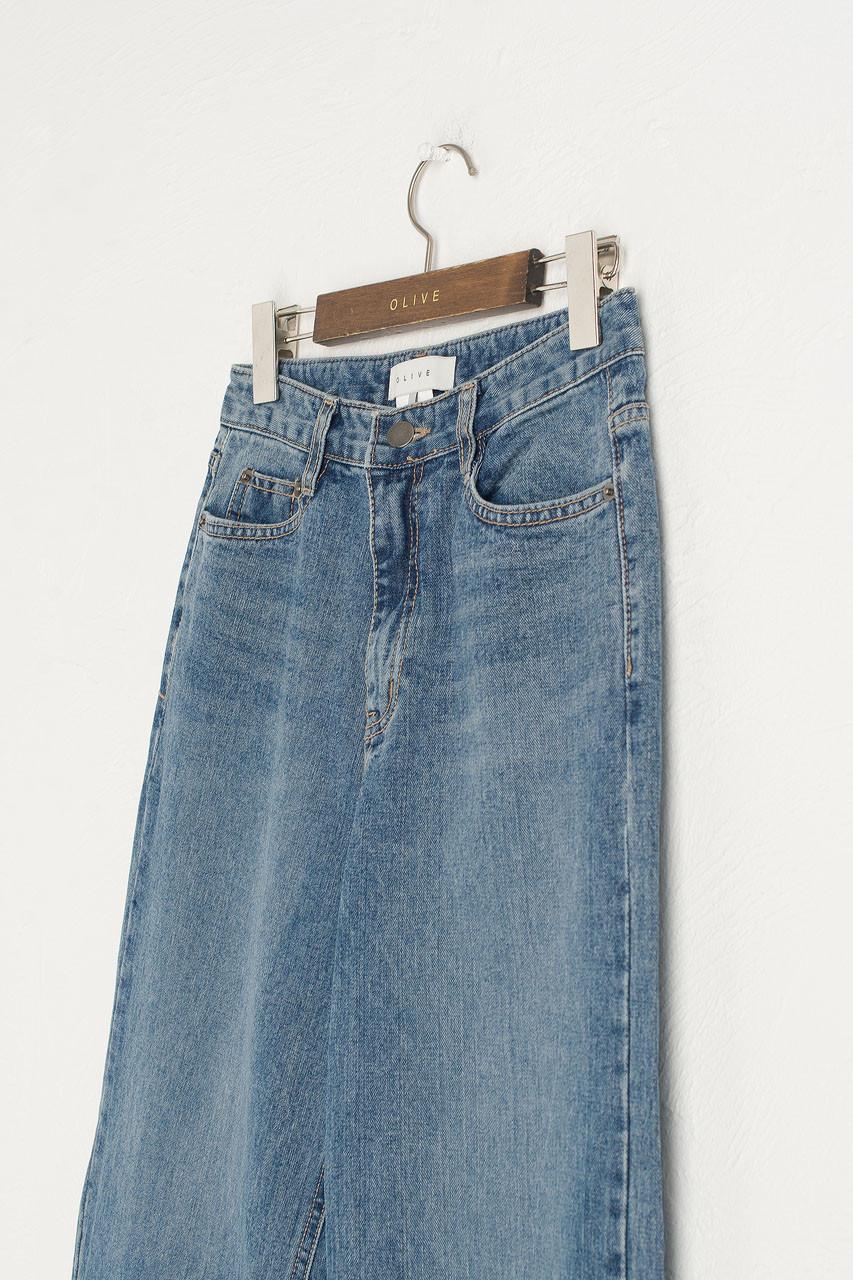 Nia Wide Jean, Mid Blue