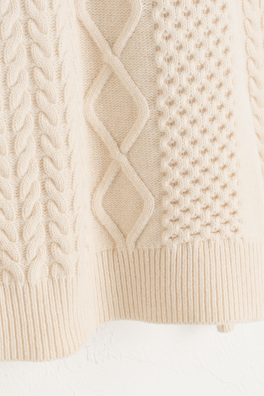 Boa Boxy Cable Jumper, Ivory