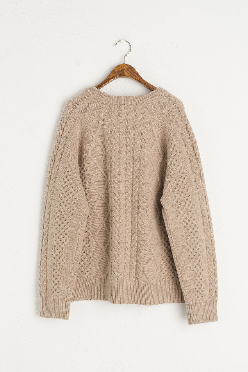 Boa Boxy Cable Jumper, Beige