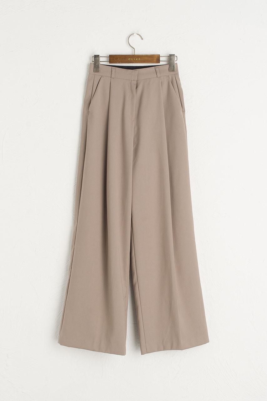 Over Wide Pants, Beige
