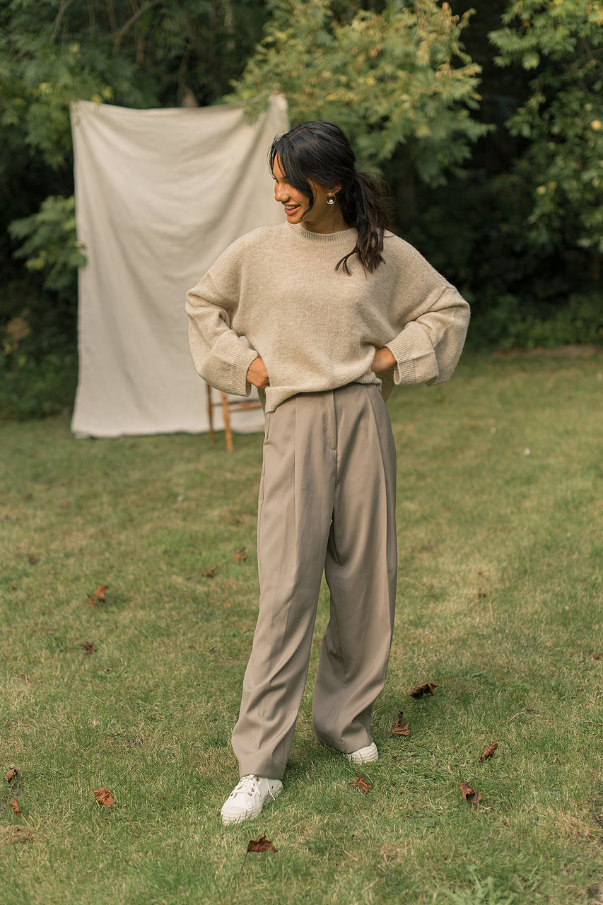 Over Wide Pants, Beige