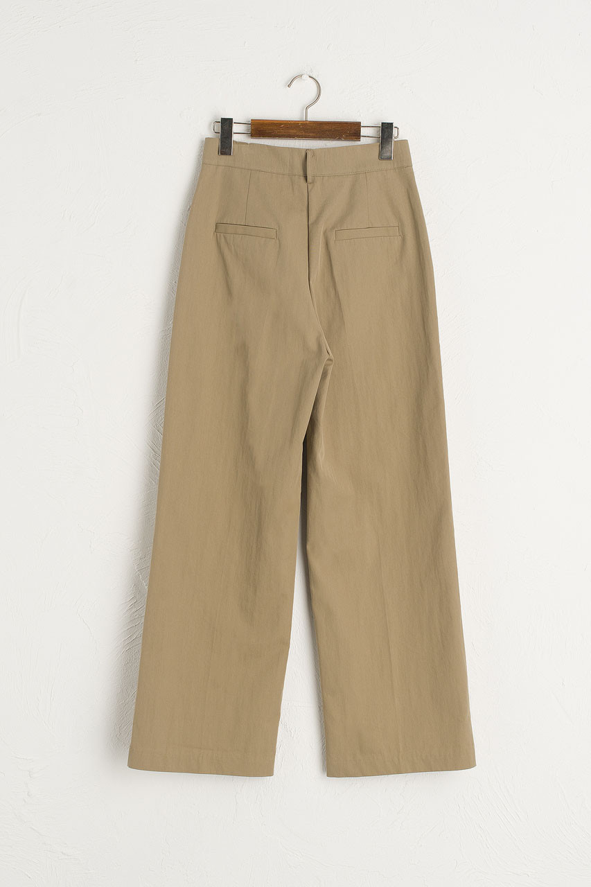 Reid Simple Pants, Beige