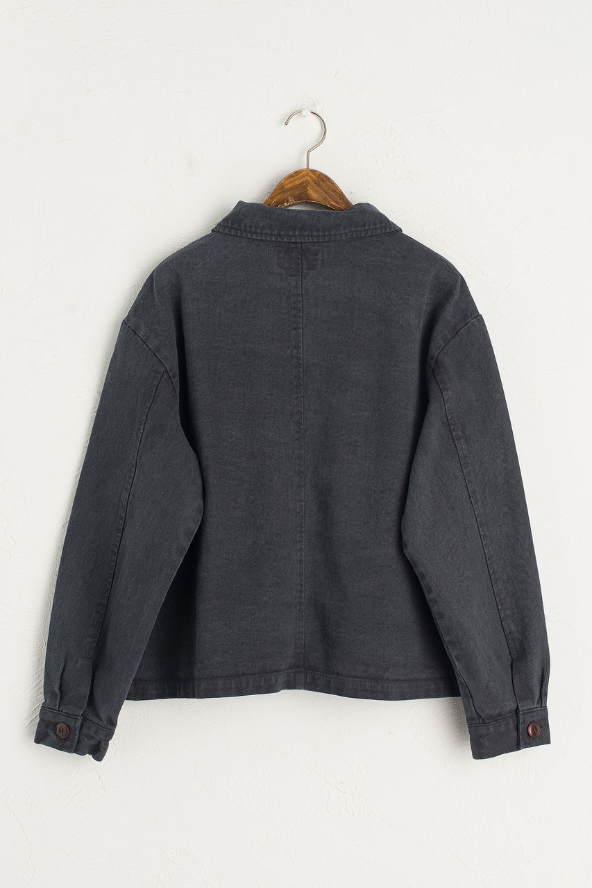 Reid Cotton Jacket, Charcoal