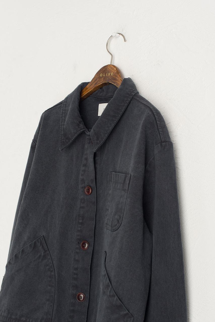 Reid Cotton Jacket, Charcoal