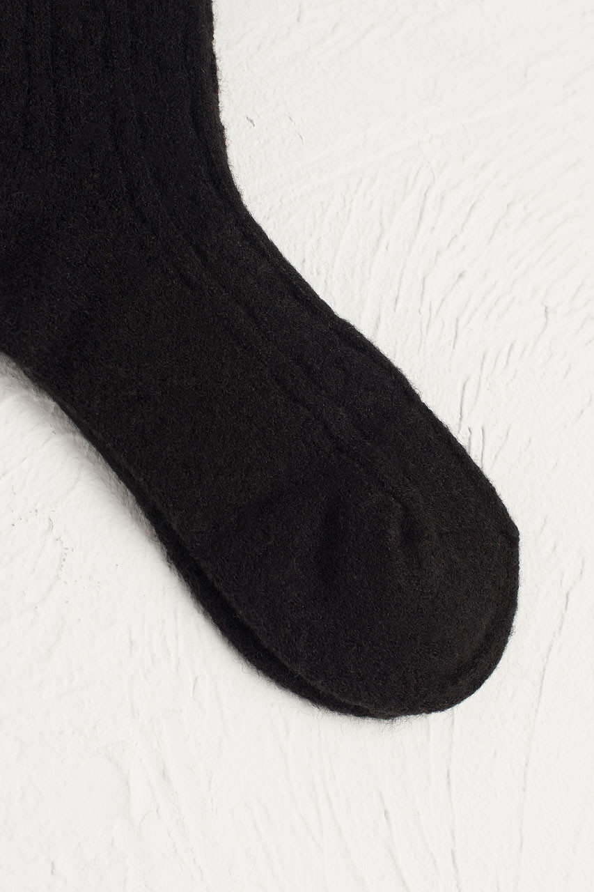 Mina Soft Cable Socks, Black