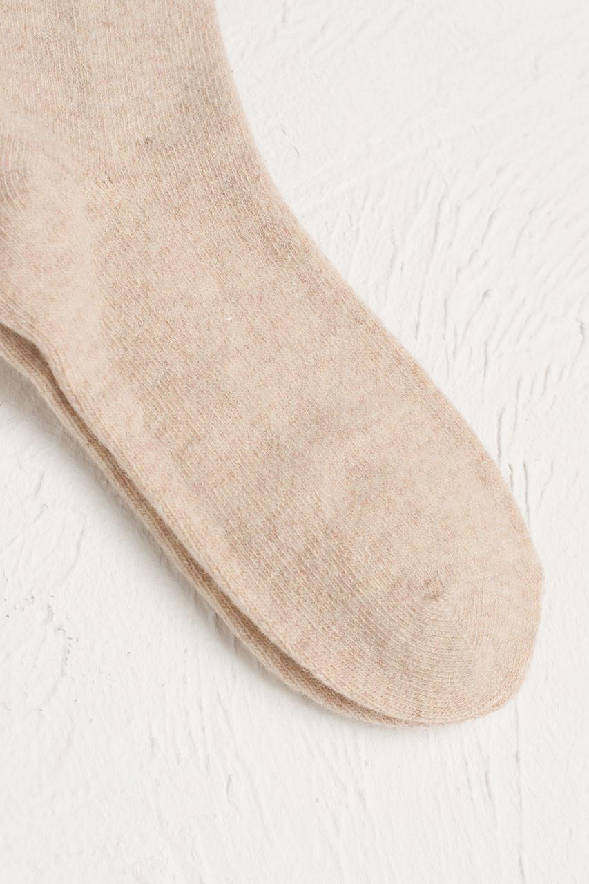 Wool Blend Chunky Socks, Ivory
