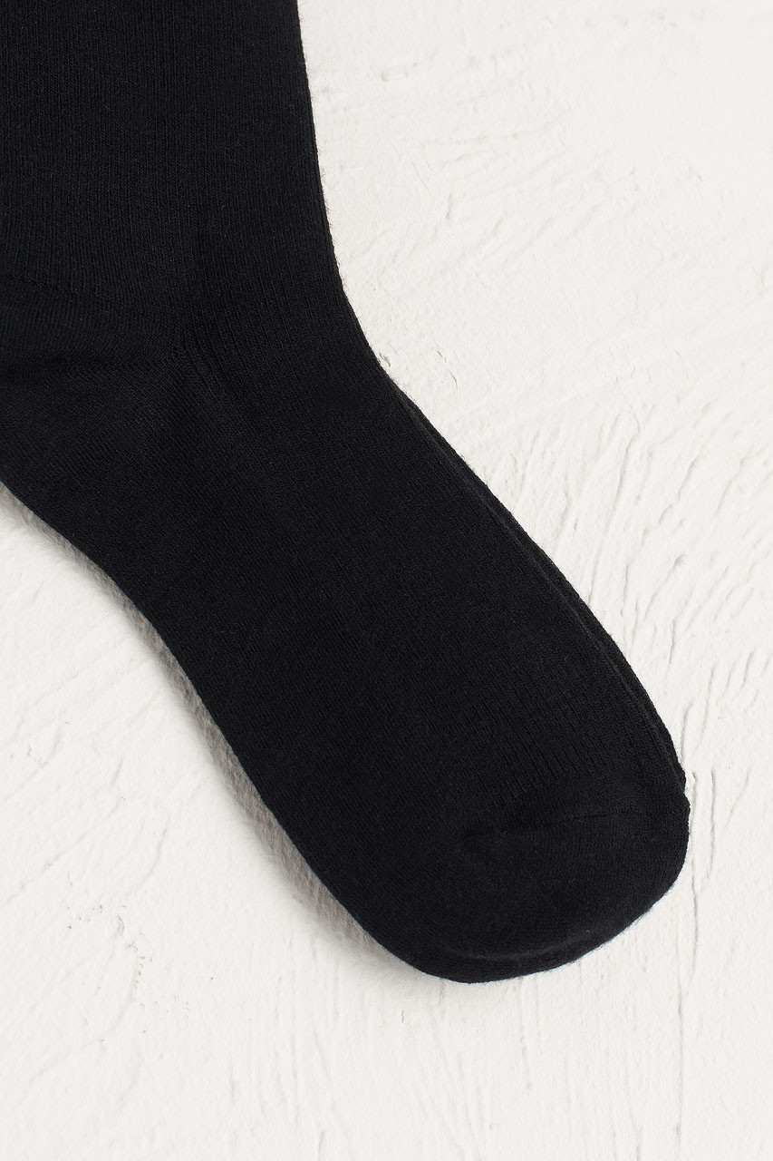 Kiko Ribbed Socks, Black