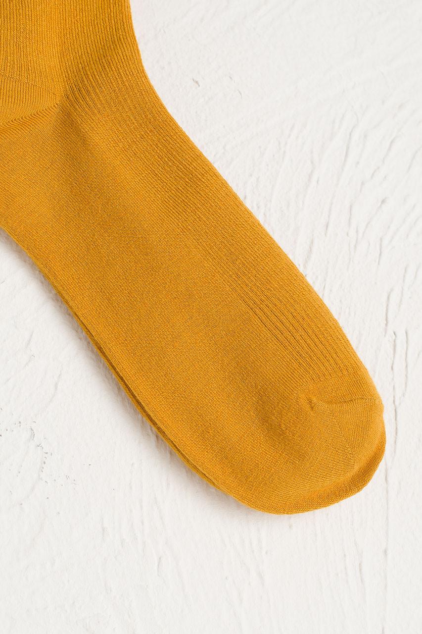 Kiko Ribbed Socks, Mustard