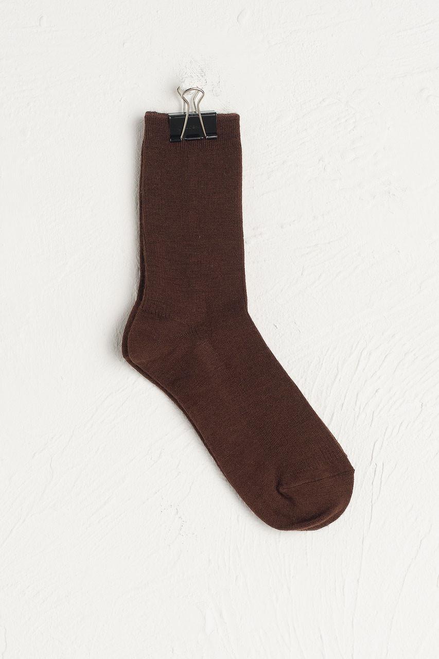 Kiko Ribbed Socks, Brown