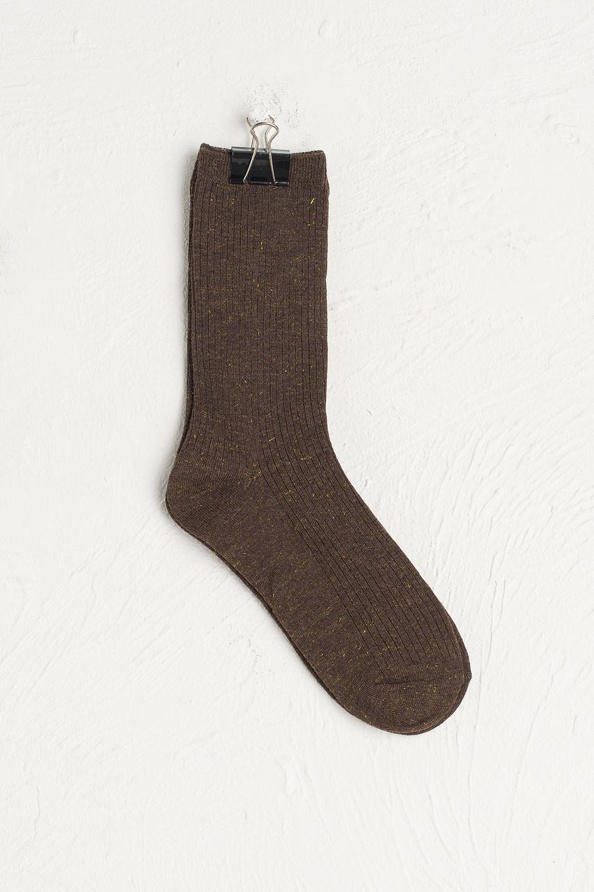 Glitter Flecked Socks, Khaki