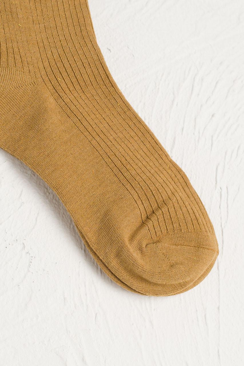 Glitter Flecked Socks, Mustard