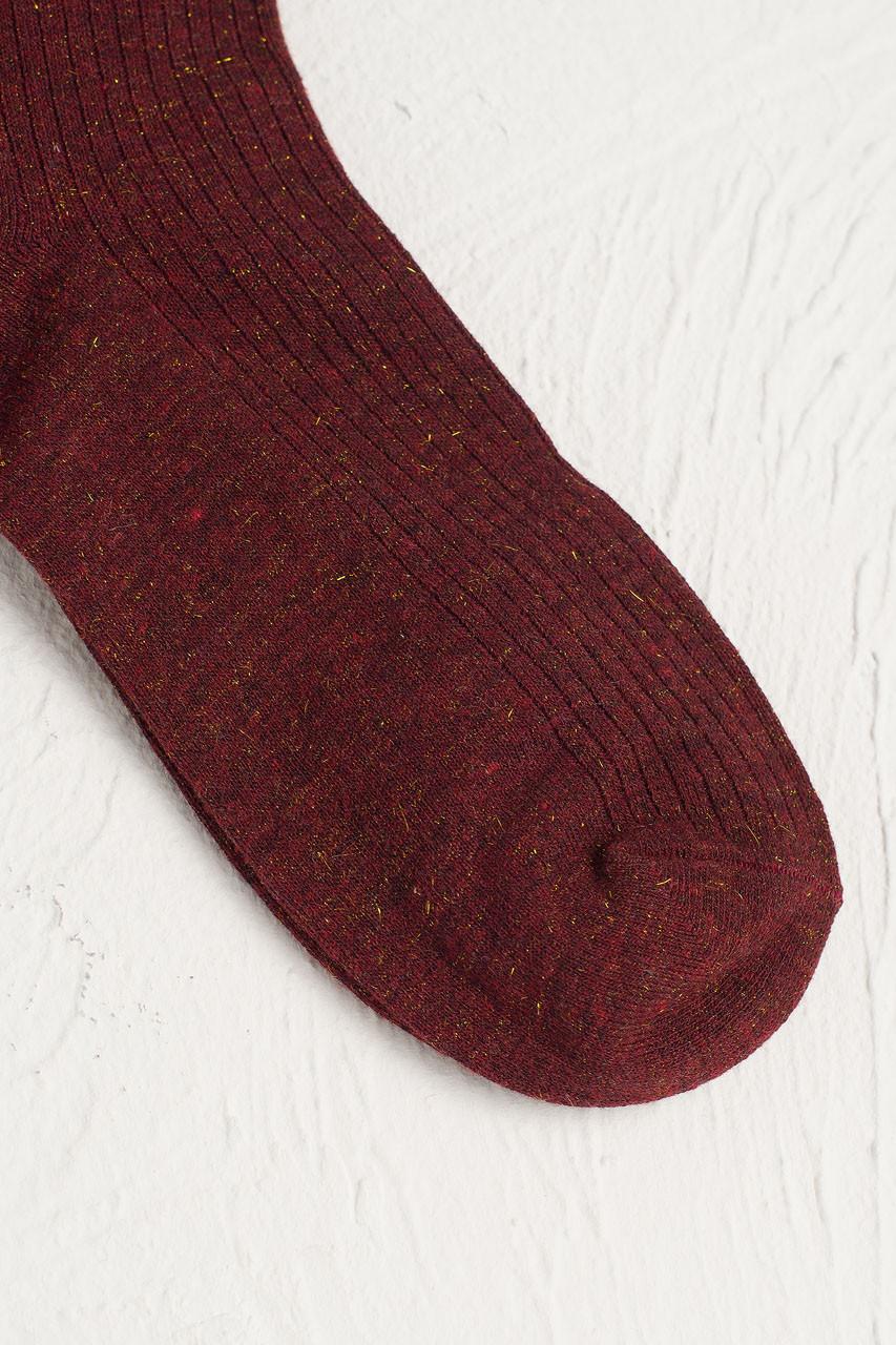 Glitter Flecked Socks, Wine