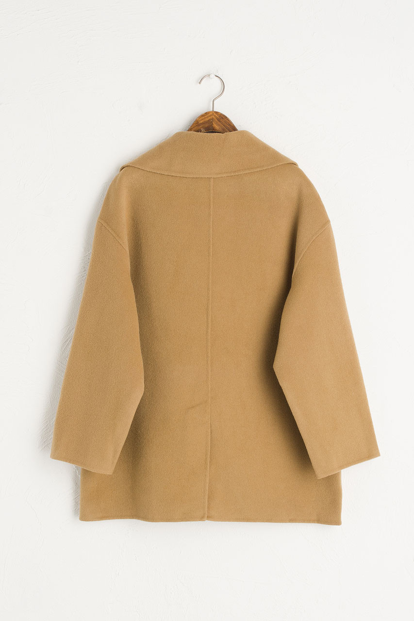 Double Seamless Coat, Camel