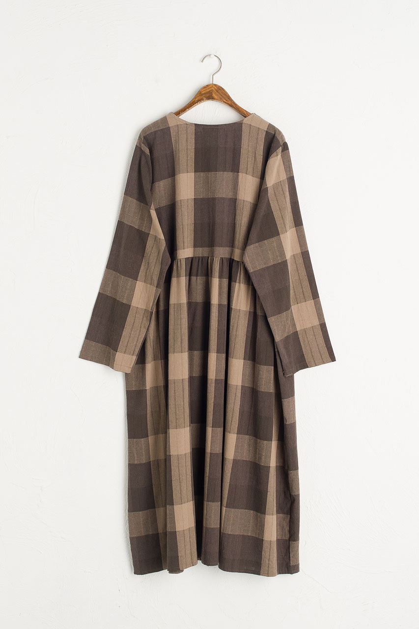 Rachael Check Dress, Brown