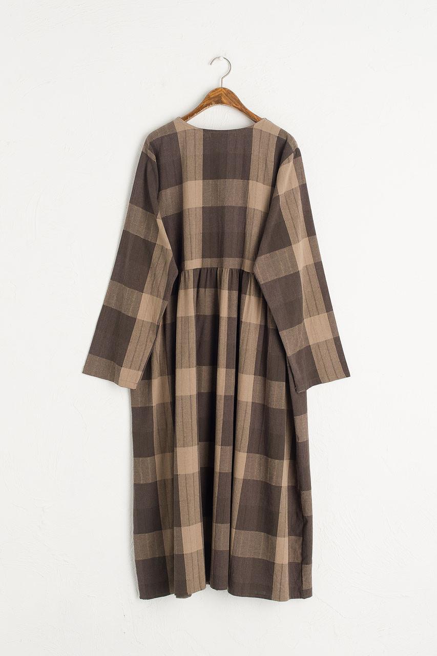 Rachael Check Dress, Brown