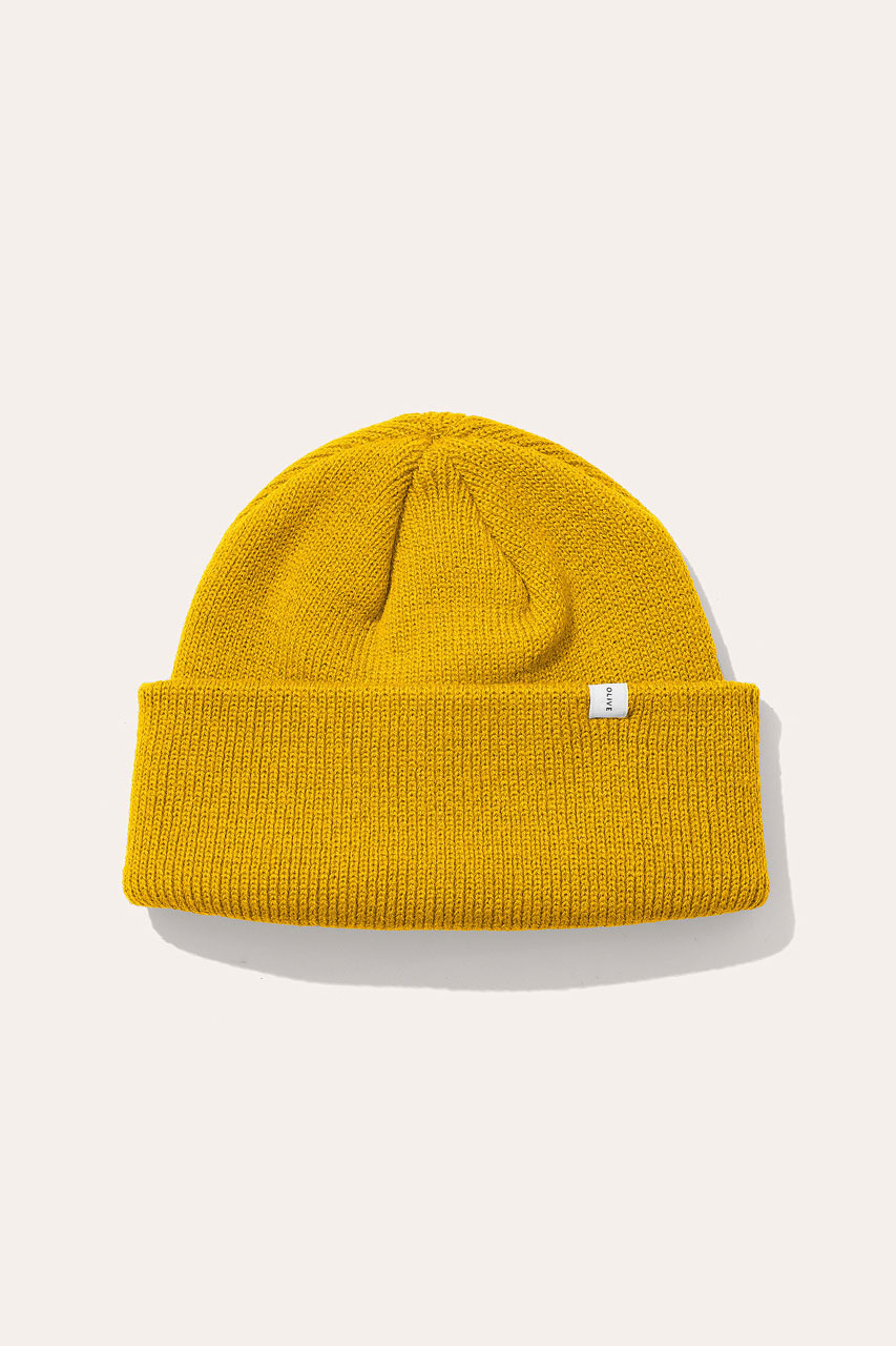 Menswear | Simple Beanie, Yellow