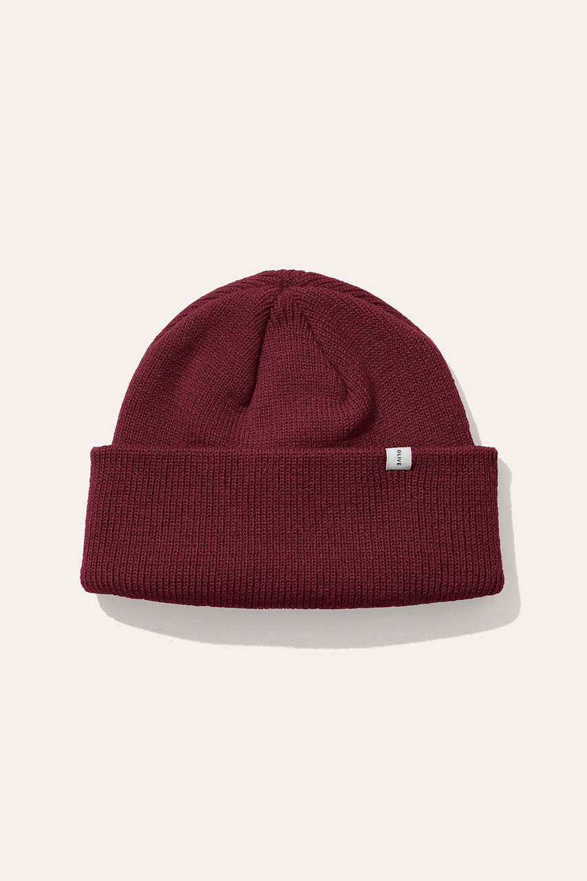 Menswear | Simple Beanie, Cherry