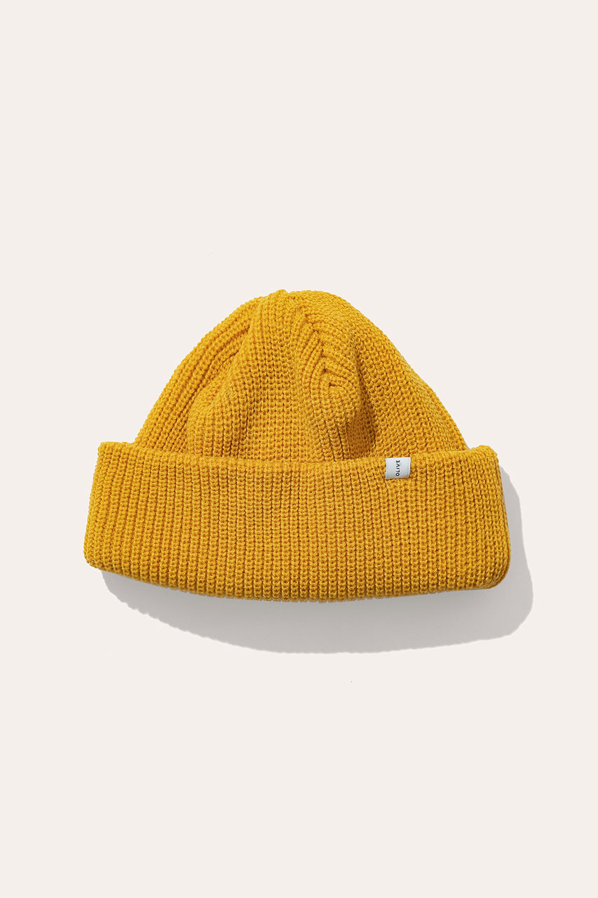 Menswear | Fisherman Beanie, English Mustard