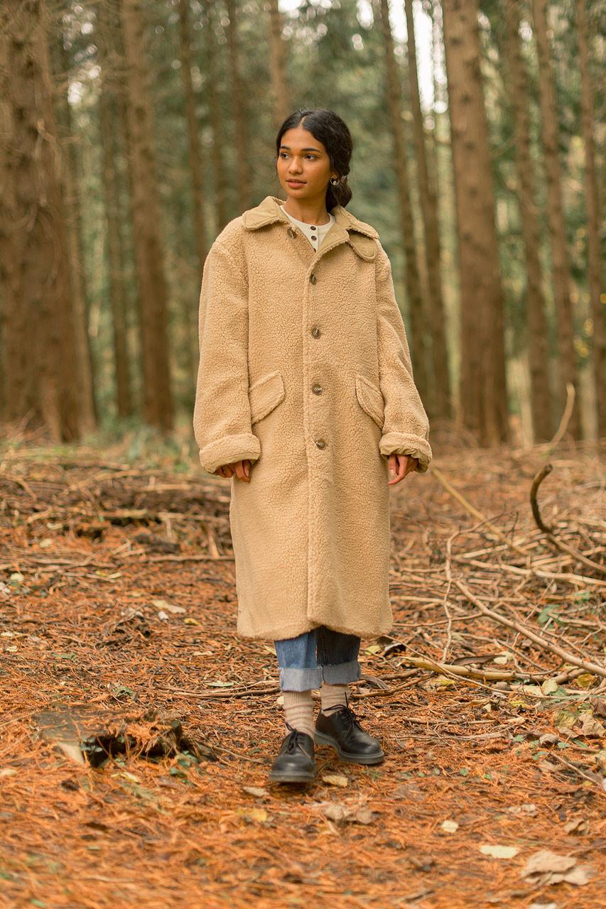 Woolly Teddy Coat, Camel