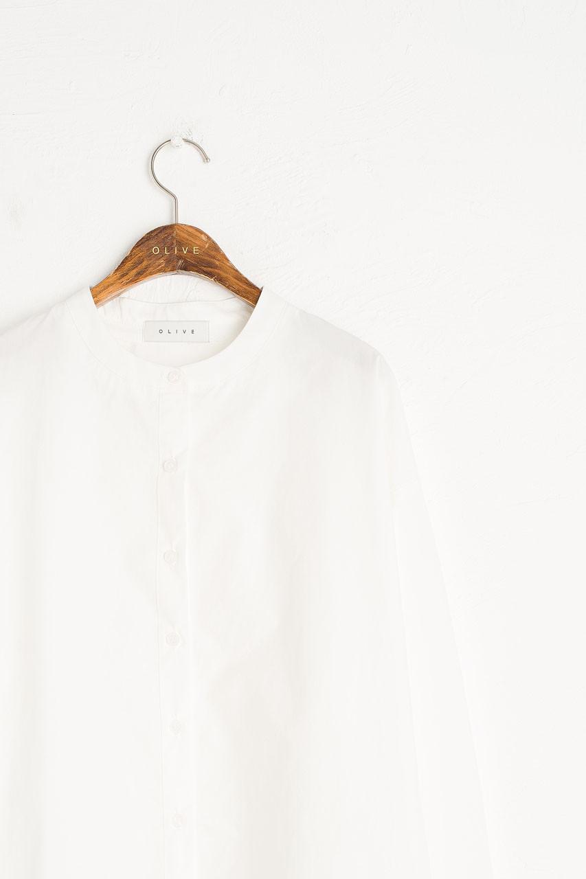 Kernow Pinstripe Blouse, White