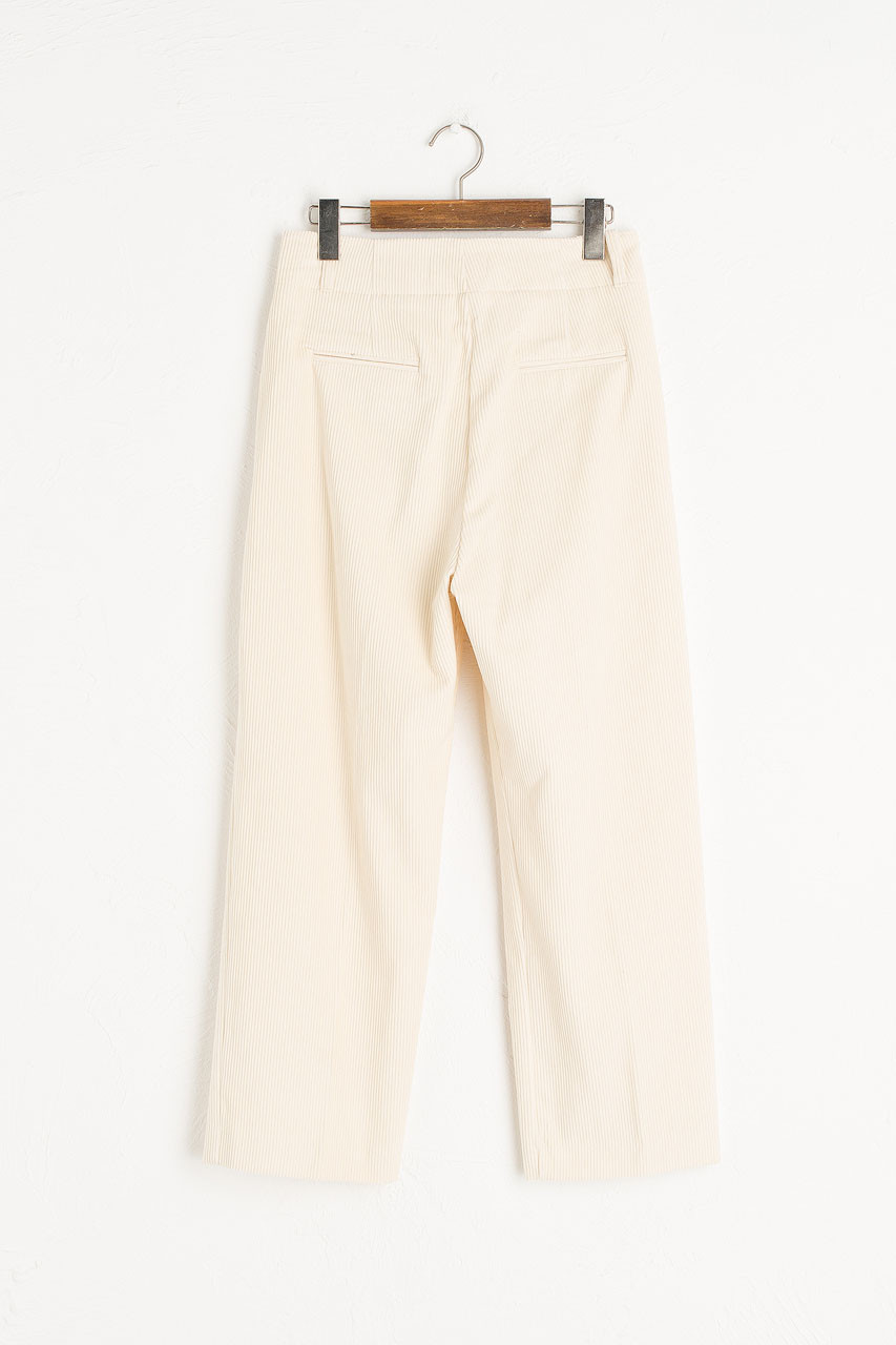 Mayu Cord Trousers, Cream
