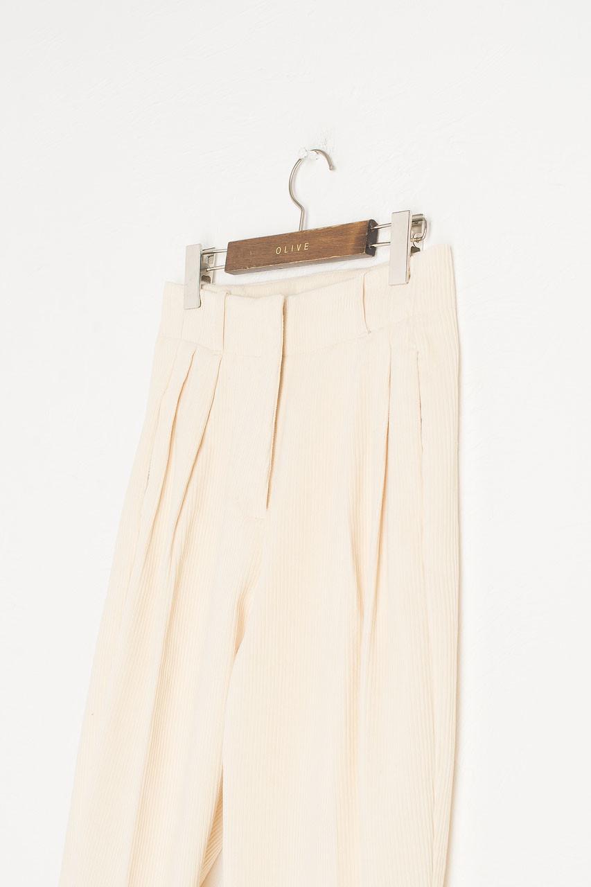 Mayu Cord Trousers, Cream