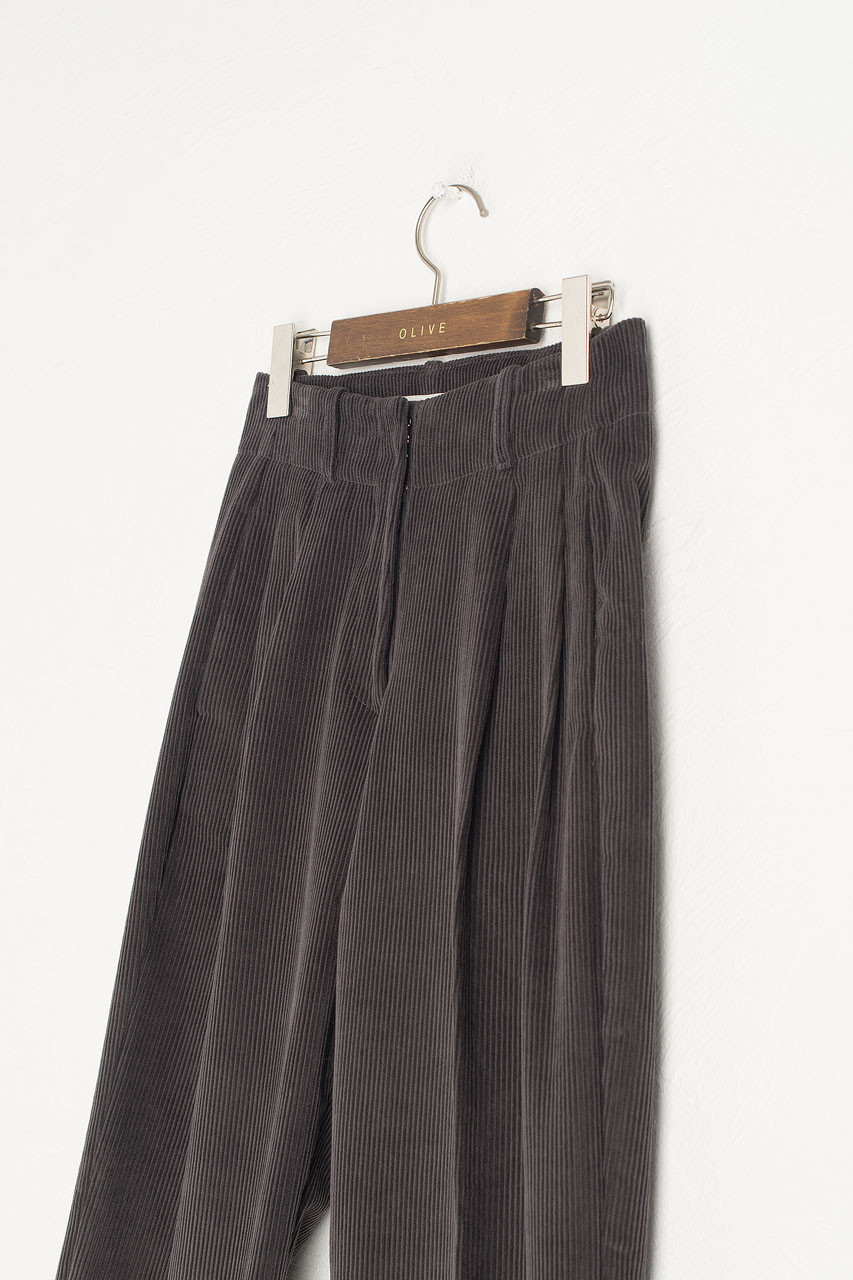 Mayu Cord Trousers, Charcoal