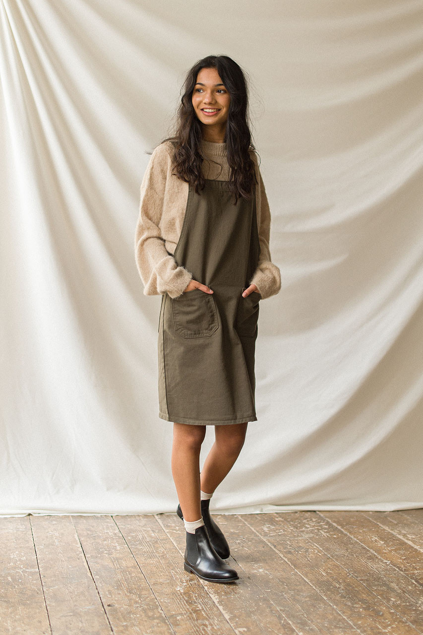 Apron Dress, Khaki