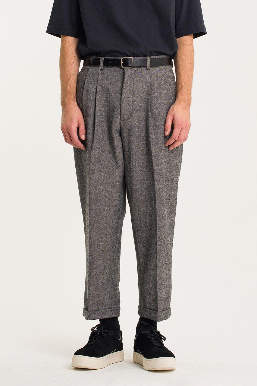 Menswear | Volk Wool Trousers, Salt Marl