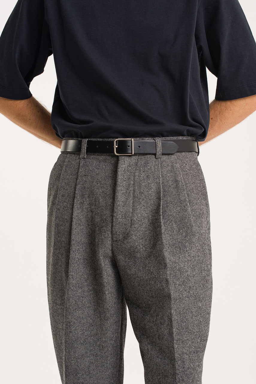 Menswear | Volk Wool Trousers, Salt Marl