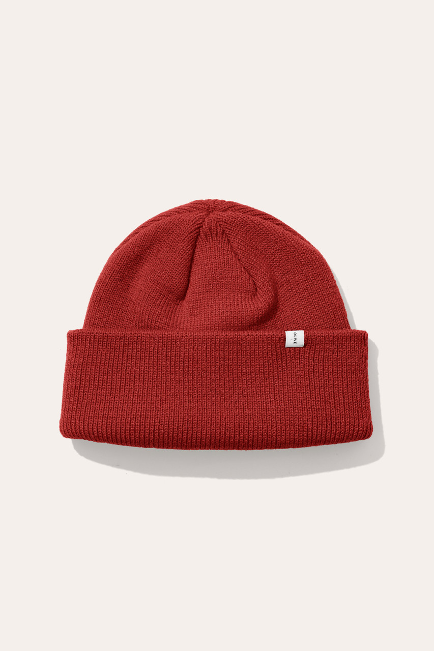 Menswear | Simple Beanie, Cinnabar