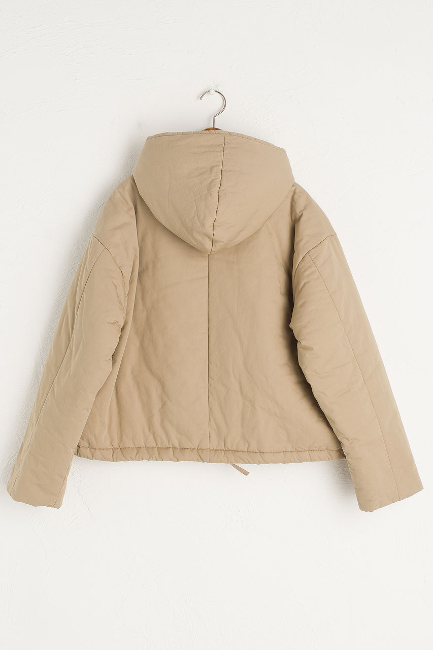 String Padded Jacket, Beige