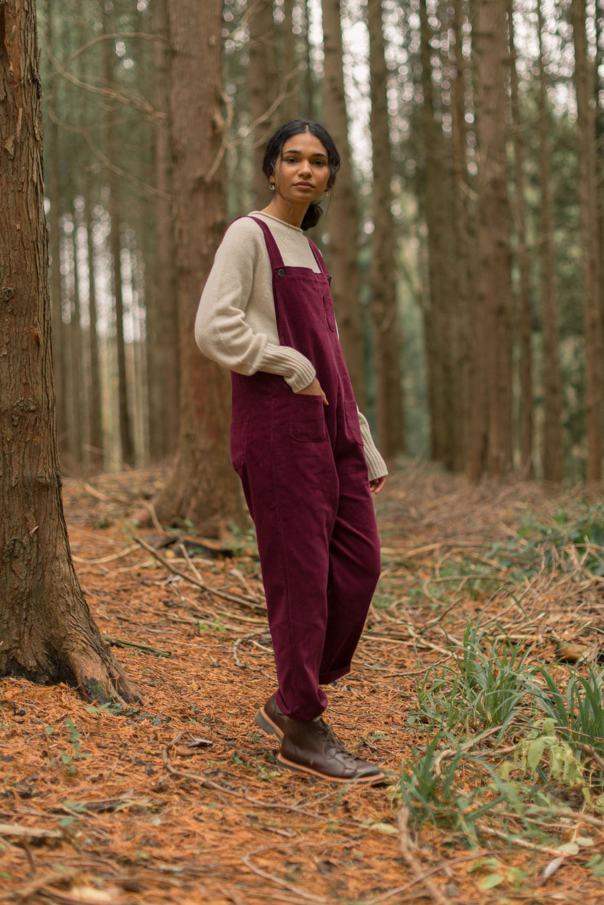 Pocket Point Corduroy Dungarees, Wine