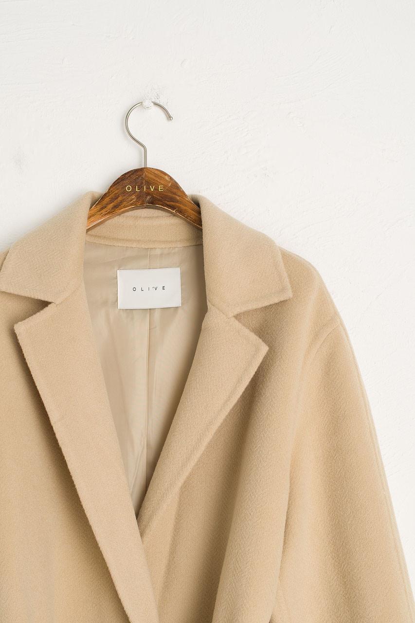 Sana Belted Seamless Coat, Soft Yellow