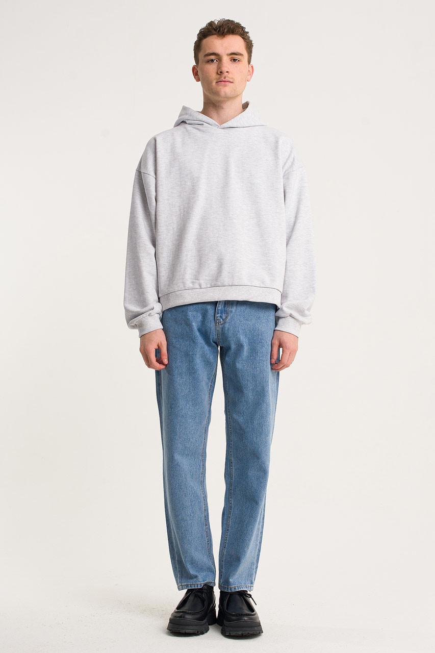 Menswear | Pullover Hoodie, Grey Marl
