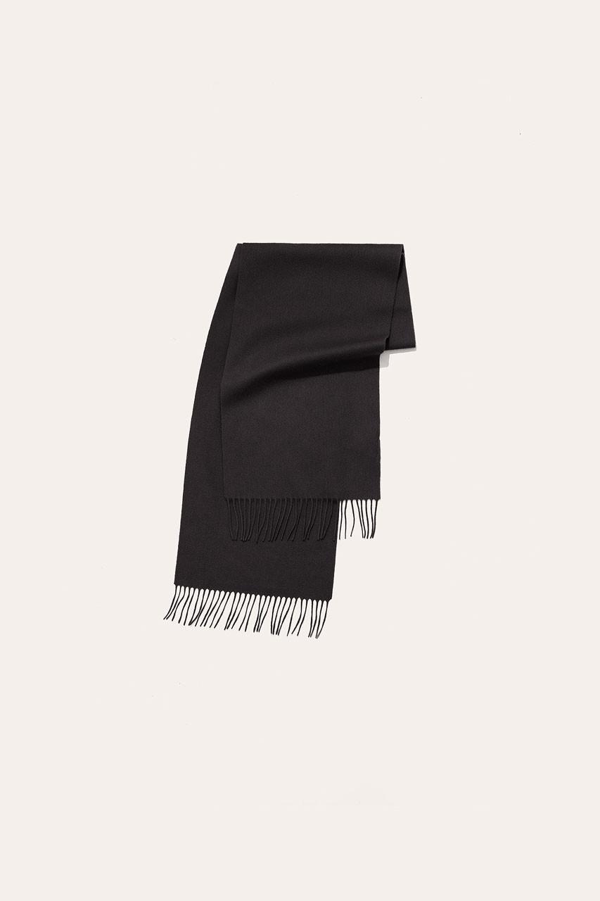 Menswear | Small Wool Scarf, Black