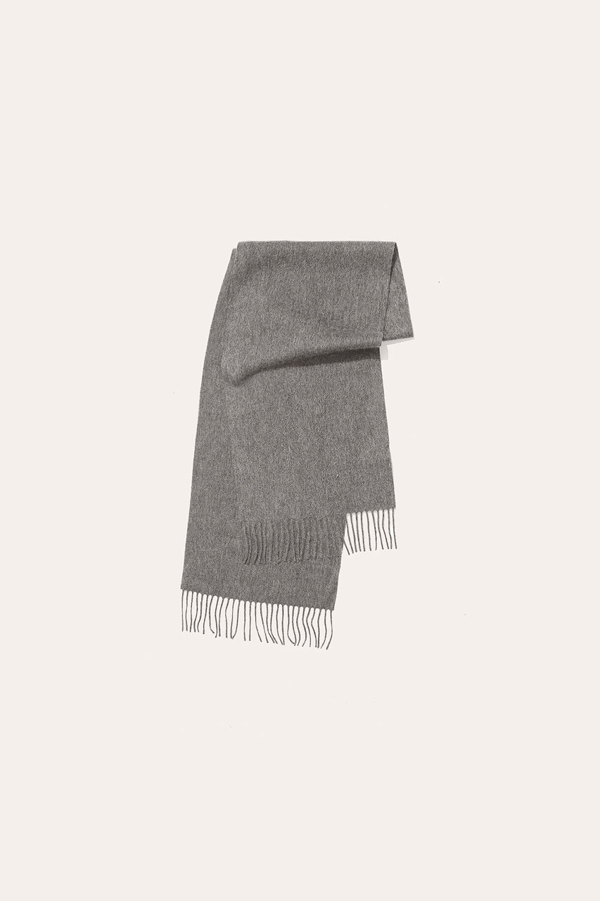 Menswear | Small Wool Scarf, Light Grey