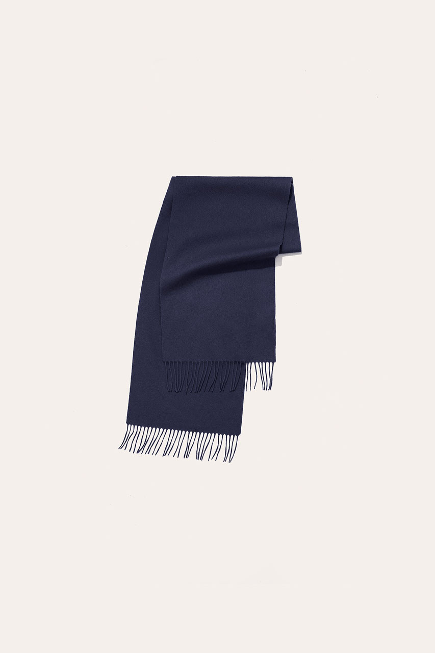 Menswear | Small Wool Scarf, Navy
