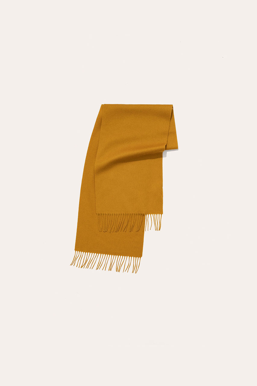 Menswear | Small Wool Scarf, Mustard