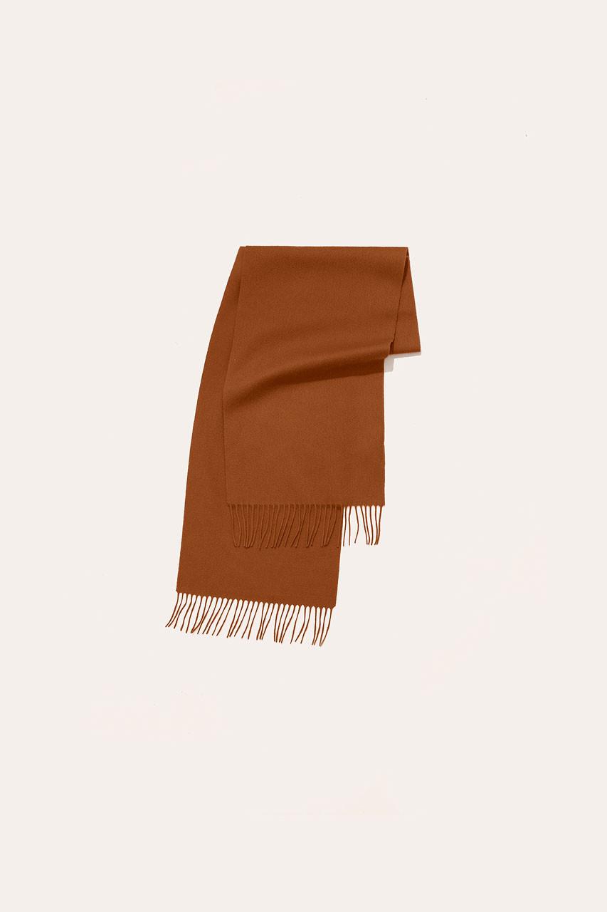 Menswear | Small Wool Scarf, Amber